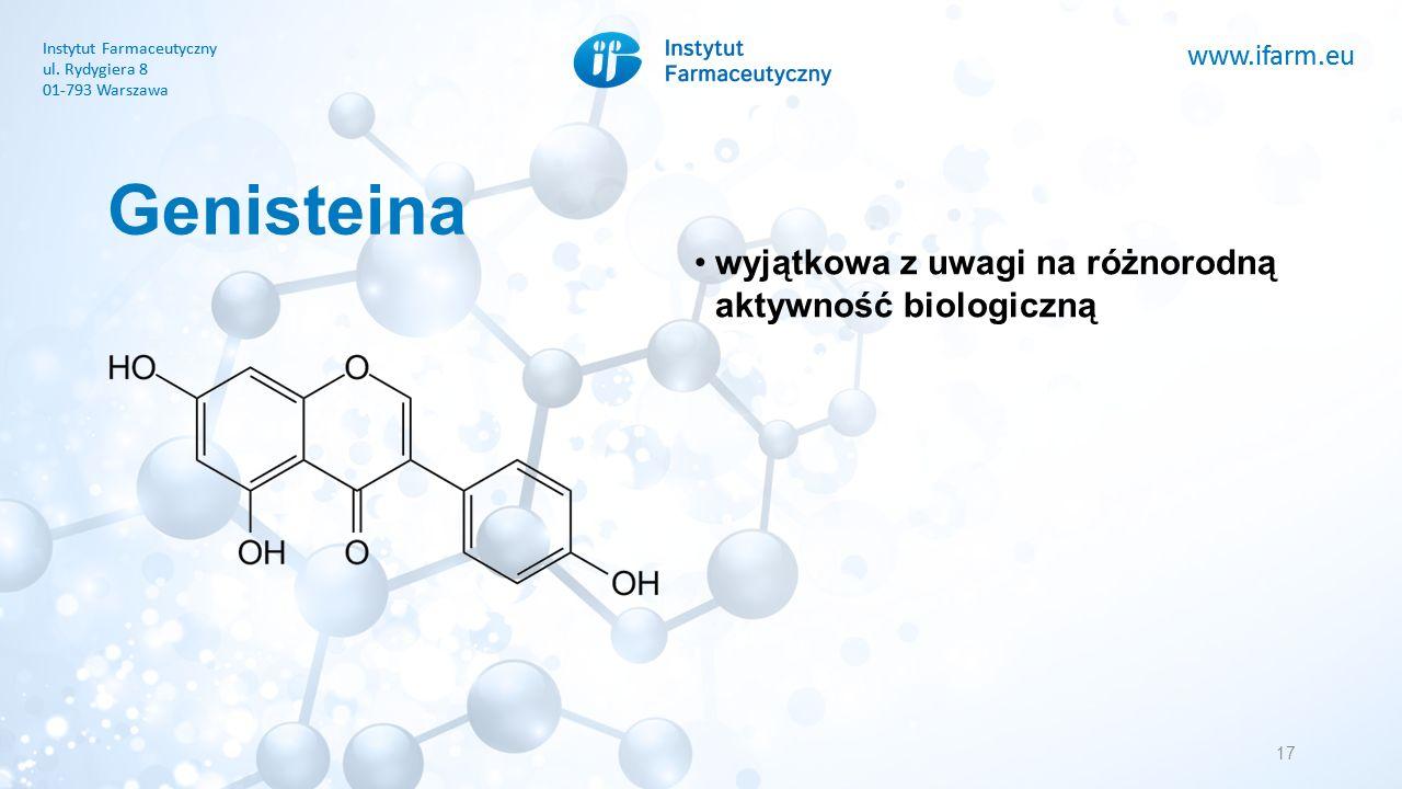 www.ifarm.eu Instytut Farmaceutyczny ul. Rydygiera 8 01-793 Warszawa www.ifarm.eu Instytut Farmaceutyczny ul. Rydygiera 8 01-793 Warszawa Genisteina 1
