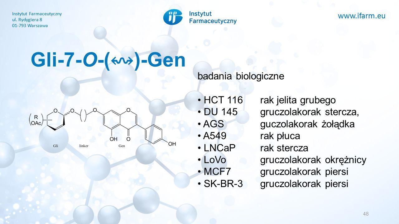 www.ifarm.eu Instytut Farmaceutyczny ul. Rydygiera 8 01-793 Warszawa www.ifarm.eu Instytut Farmaceutyczny ul. Rydygiera 8 01-793 Warszawa Gli-7-O-( ↭