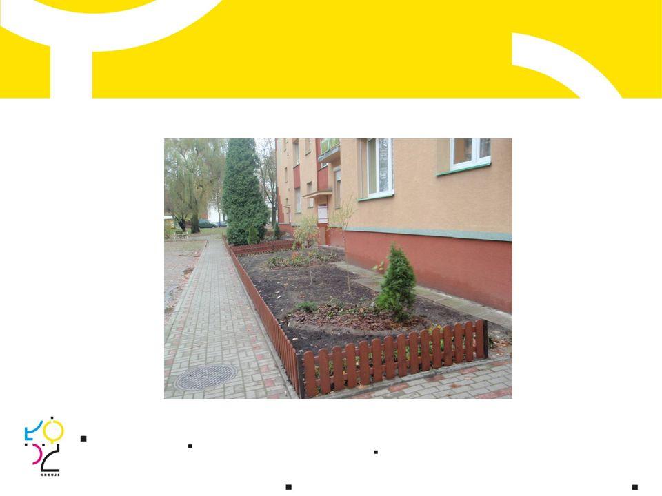 Wspólnota mieszkaniowa Górnica 47 wykonano: rekultywację zieleni; ogrodzenie terenu zieleńca przy śmietniku; zakup i montaż ławek.