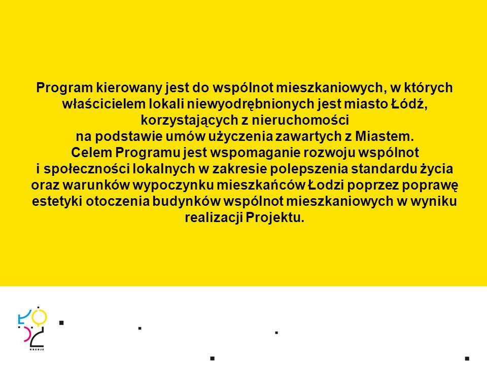 Program kierowany jest do wspólnot mieszkaniowych, w których właścicielem lokali niewyodrębnionych jest miasto Łódź, korzystających z nieruchomości na podstawie umów użyczenia zawartych z Miastem.