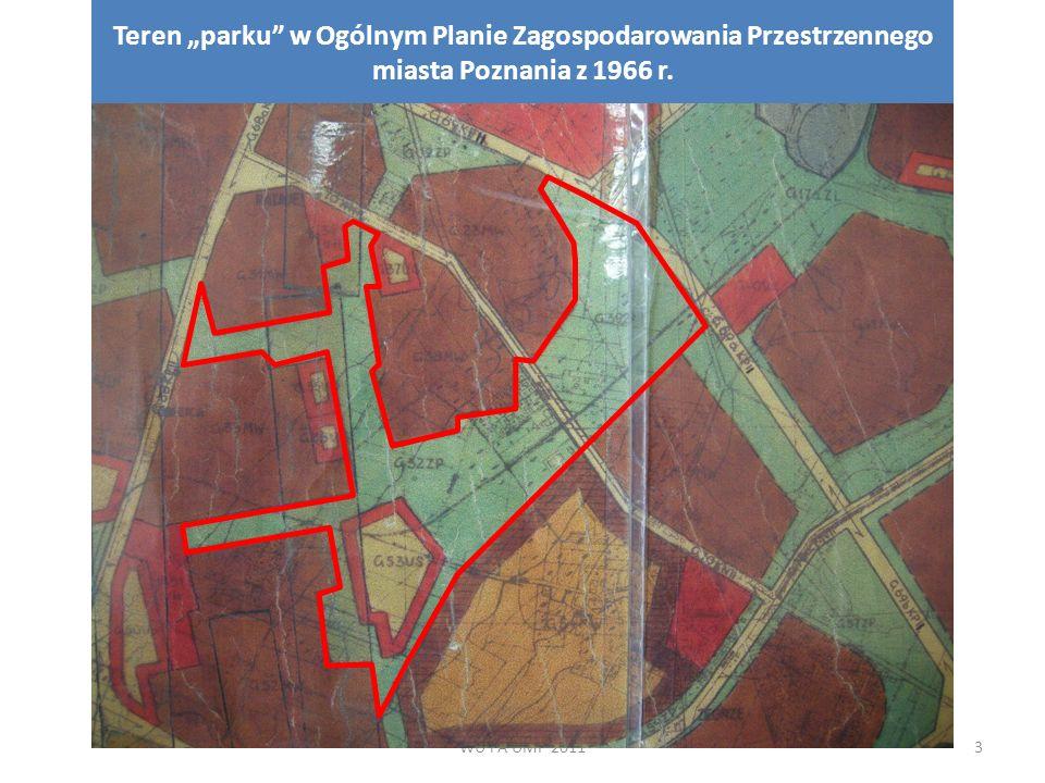 """WU i A UMP 20114 Teren """"parku w Planie Zagospodarowania Przestrzennego miasta Poznania z 1975 r."""