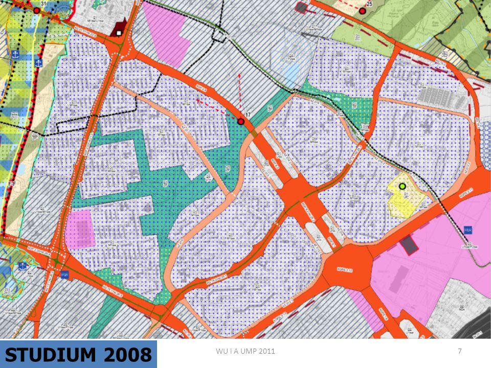 WU i A UMP 20118 Granice obowiązujących planów miejscowych.