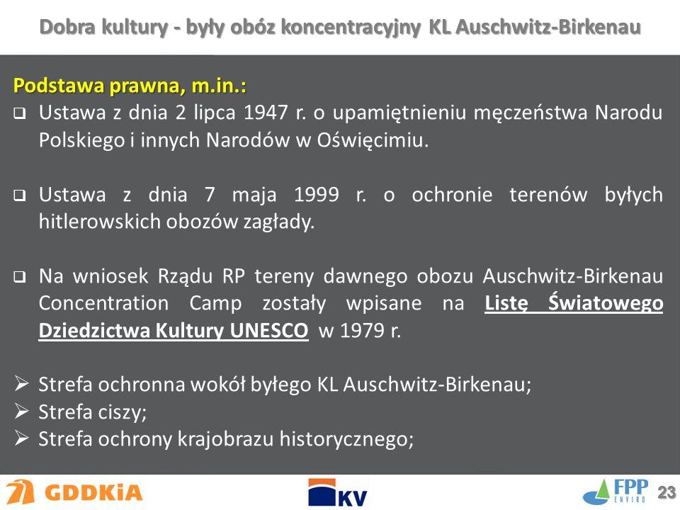 Dobra kultury - były obóz koncentracyjny KL Auschwitz-Birkenau Podstawa prawna, m.in.:  Ustawa z dnia 2 lipca 1947 r.