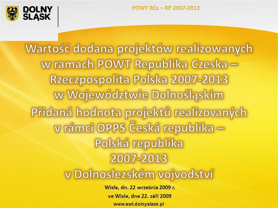Wisła, dn. 22 września 2009 r. www.ewt.dolnyslask.pl ve Wisle, dne 22. září 2009