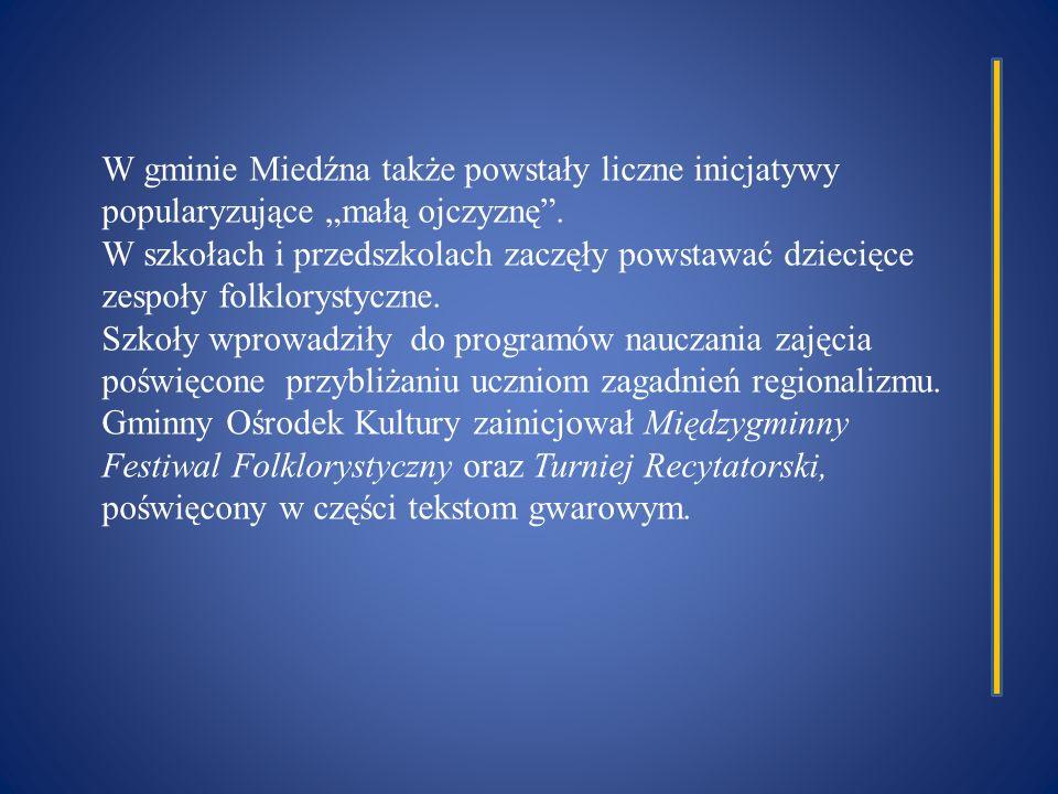 """W gminie Miedźna także powstały liczne inicjatywy popularyzujące """"małą ojczyznę ."""