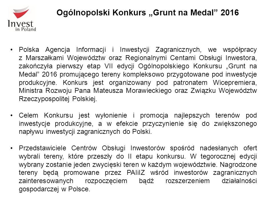 Polska Agencja Informacji i Inwestycji Zagranicznych, we współpracy z Marszałkami Województw oraz Regionalnymi Centami Obsługi Inwestora, zakończyła p
