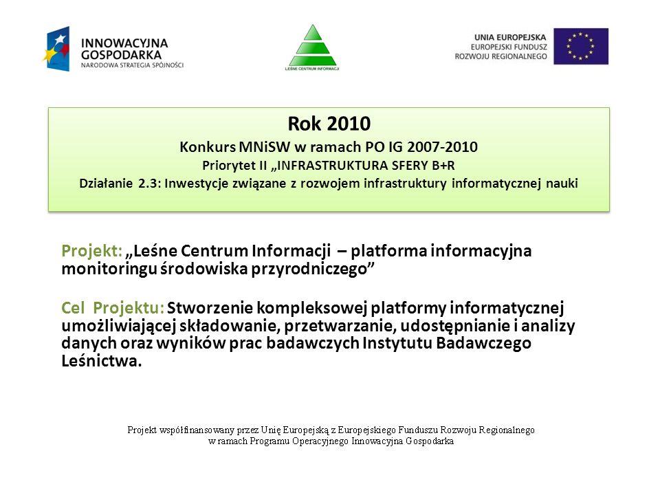 """Rok 2010 Konkurs MNiSW w ramach PO IG 2007-2010 Priorytet II """"INFRASTRUKTURA SFERY B+R Działanie 2.3: Inwestycje związane z rozwojem infrastruktury in"""