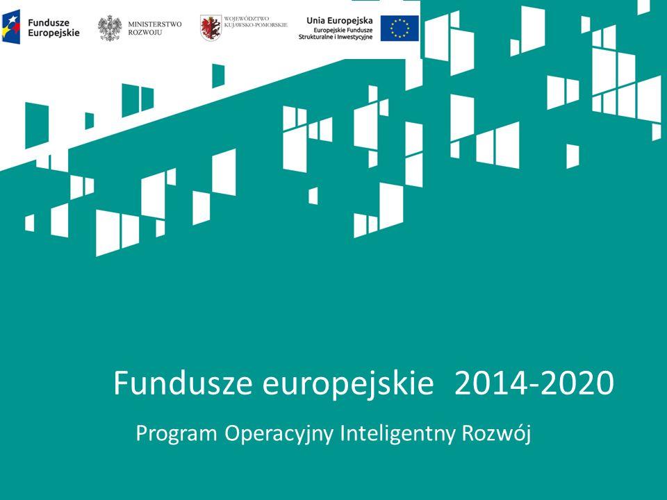 Program Operacyjny Inteligentny Rozwój Fundusze europejskie 2014-2020