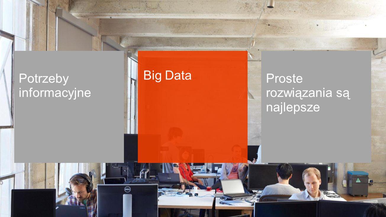 Potrzeby informacyjne Big Data Proste rozwiązania są najlepsze