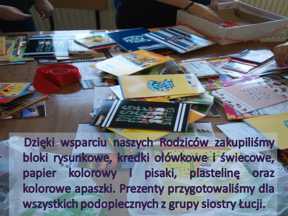 Pozyskaliśmy również sponsora, który umożliwił nam zorganizowanie wspólnego wyjazdu z grupą siostry Łucji (15 dziewcząt) do Teatru Bagatela w Krakowie.