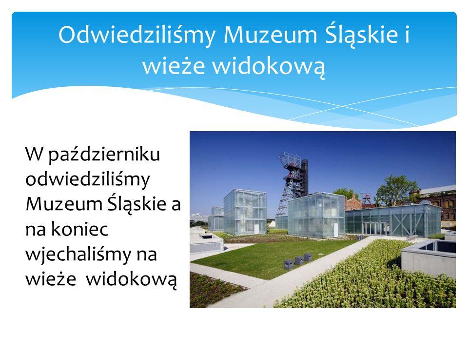 Odwiedziliśmy Muzeum Śląskie i wieże widokową W październiku odwiedziliśmy Muzeum Śląskie a na koniec wjechaliśmy na wieże widokową