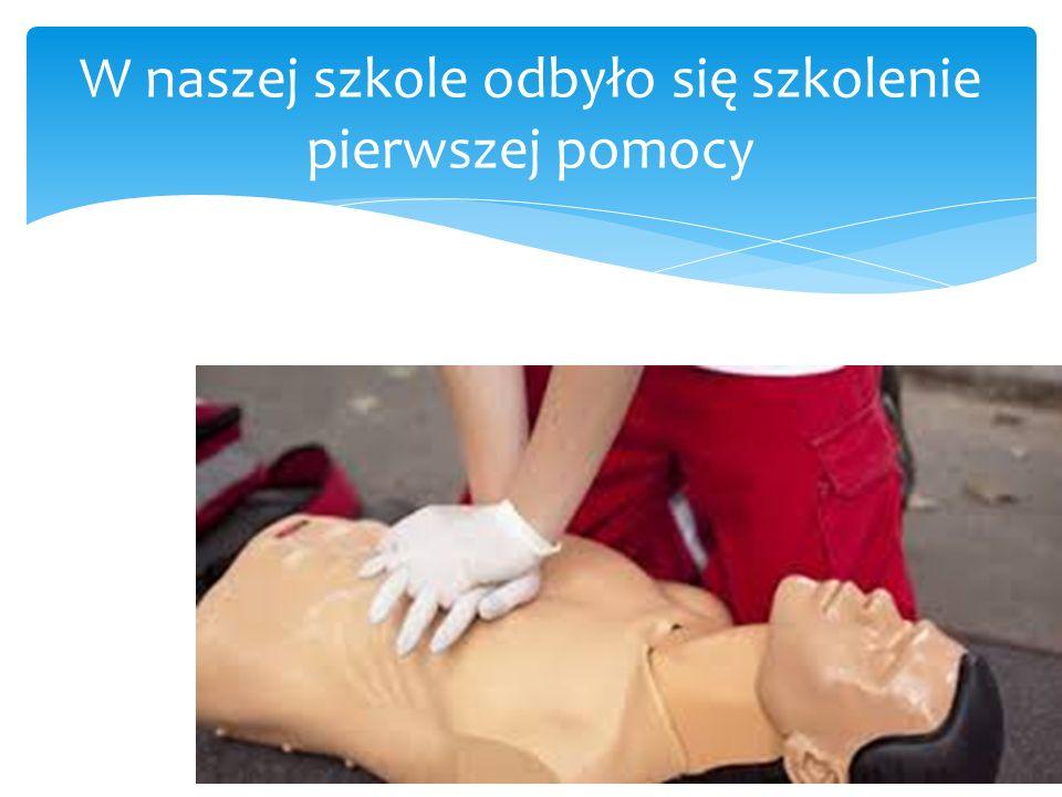 W naszej szkole odbyło się szkolenie pierwszej pomocy