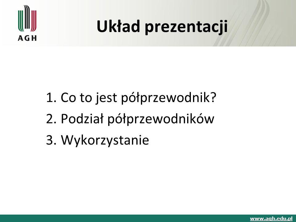 Układ prezentacji 1.Co to jest półprzewodnik.