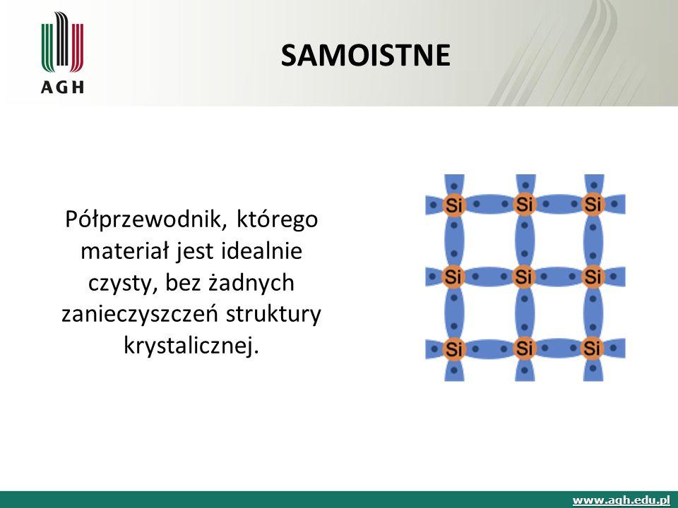 Półprzewodnik, którego materiał jest idealnie czysty, bez żadnych zanieczyszczeń struktury krystalicznej.