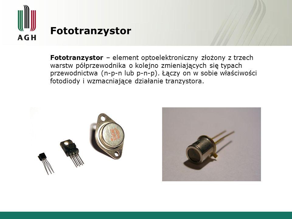 Fototranzystor Fototranzystor – element optoelektroniczny złożony z trzech warstw półprzewodnika o kolejno zmieniających się typach przewodnictwa (n-p