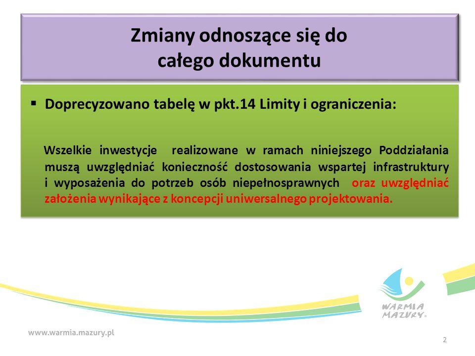 Kryteria merytoryczne (premiujące) Zgodność projektu z zasadami horyzontalnymi wynikającymi z RPO WiM 2014-2020.
