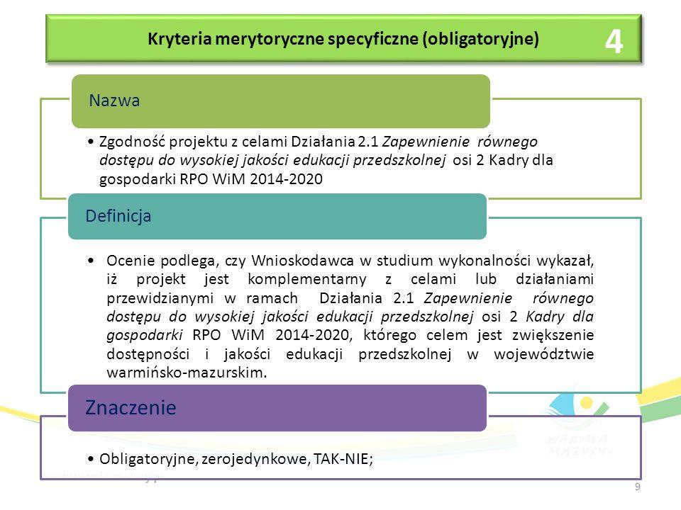 Kryteria merytoryczne specyficzne (obligatoryjne) Uzasadnienie budowy nowej infrastruktury (jeśli dotyczy).