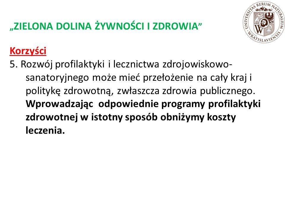 """"""" ZIELONA DOLINA ŻYWNOŚCI I ZDROWIA Korzyści 5."""