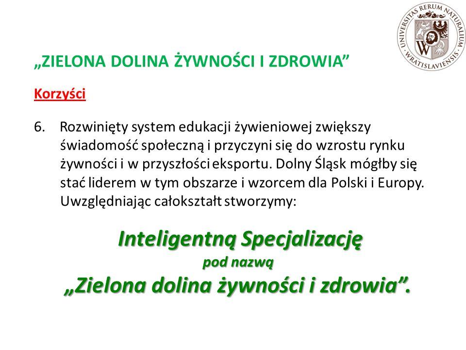 """""""ZIELONA DOLINA ŻYWNOŚCI I ZDROWIA Korzyści 6."""