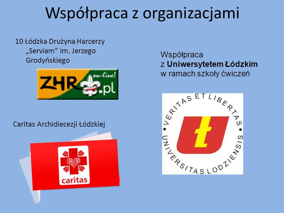 """Współpraca z organizacjami 10 Łódzka Drużyna Harcerzy """"Serviam im."""
