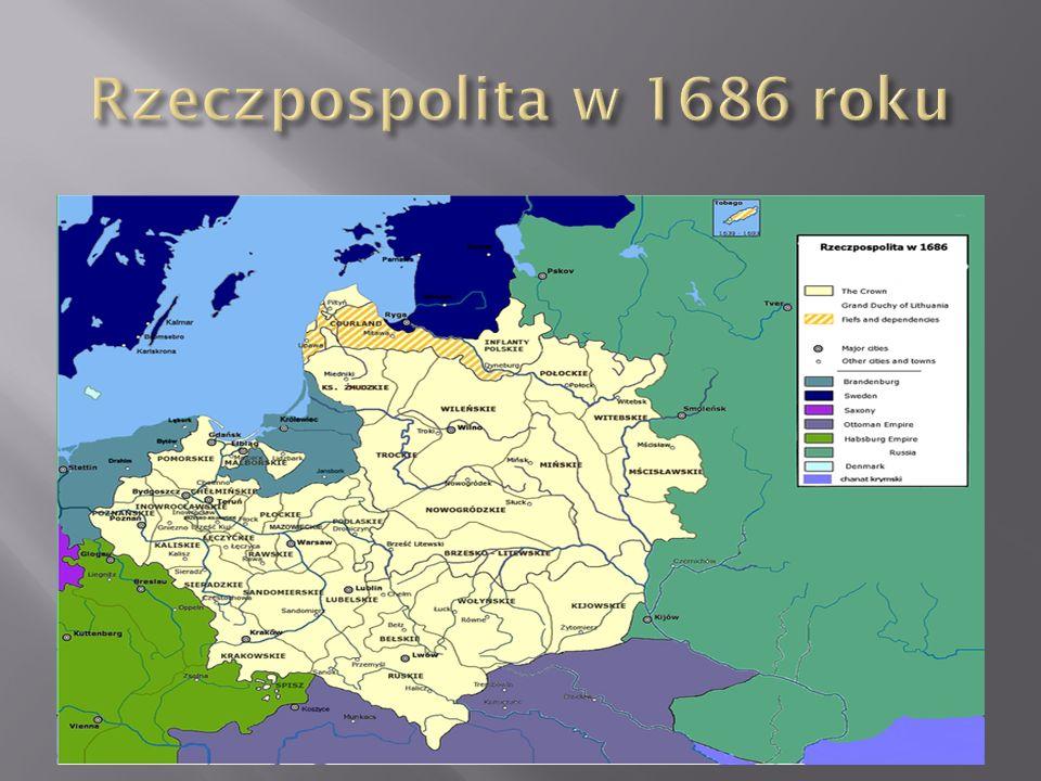  Wobec trudnej sytuacji państwa w momencie objęcia tronu, Sobieski chwilowo zrezygnował z koronacji, którą odbył dopiero w 1676 r.  Pierwotnym główn