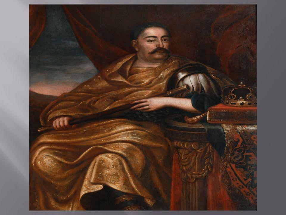 Król Polski od 1674,hetman wielki koronny od 1668, hetman polny koronny od 1666, marszałek wielki koronny od 1665, chorąży wielki koronny od 1656, s