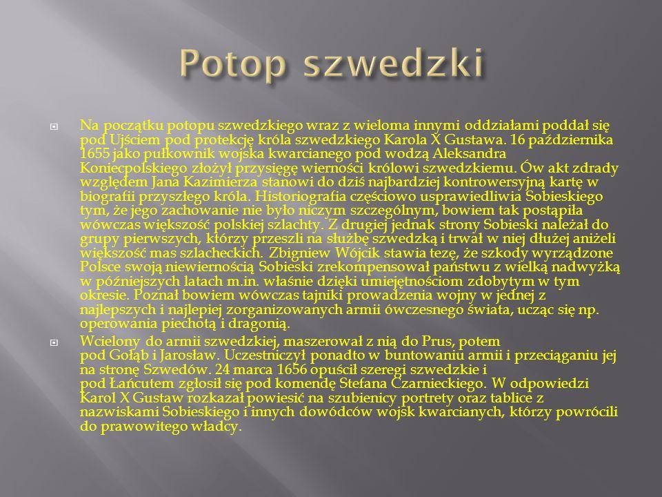  Kierując się swym wielkim doświadczeniem wojennym, Sobieski zreformował wojska Rzeczypospolitej, zmieniając ich organizację i wyposażenie.
