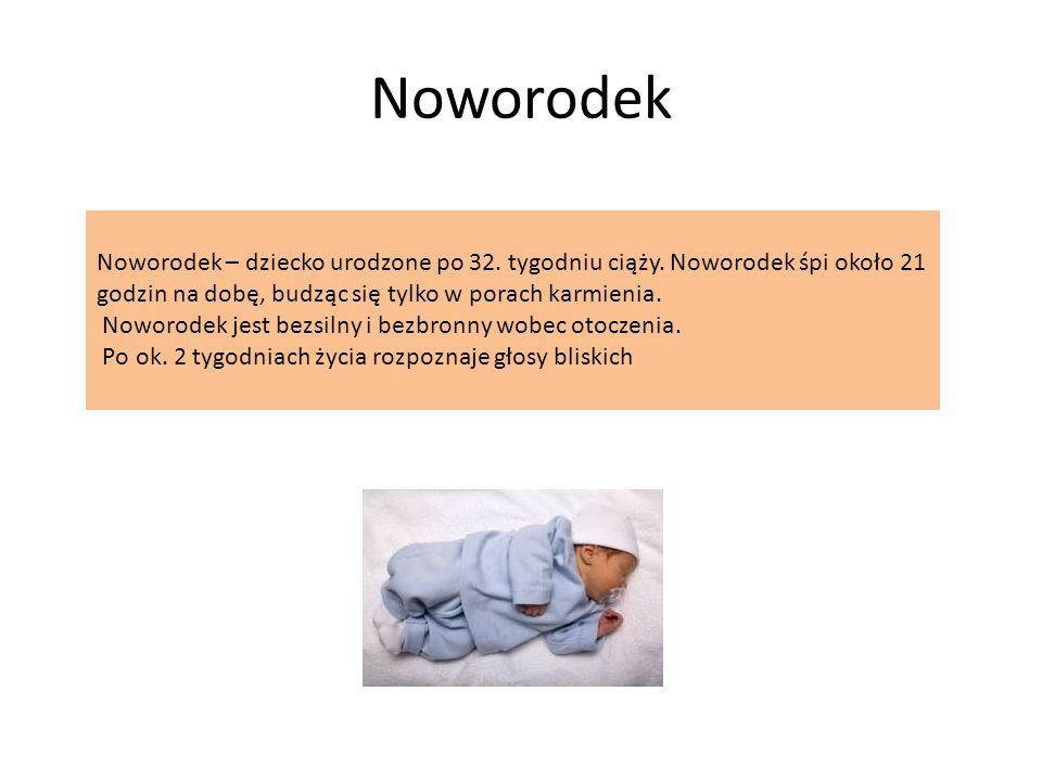 Noworodek Noworodek – dziecko urodzone po 32.tygodniu ciąży.
