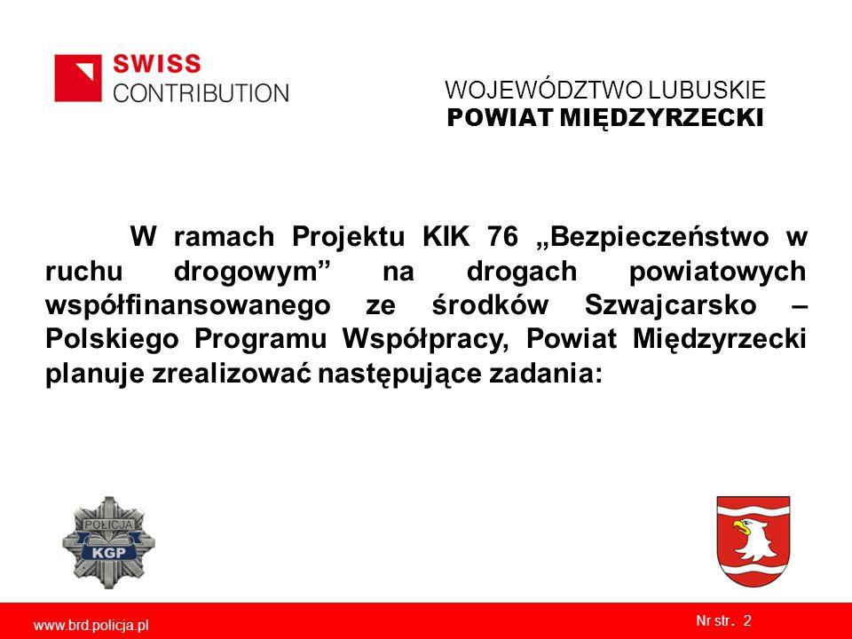 WOJEWÓDZTWO LUBUSKIE POWIAT MIĘDZYRZECKI Nr str.