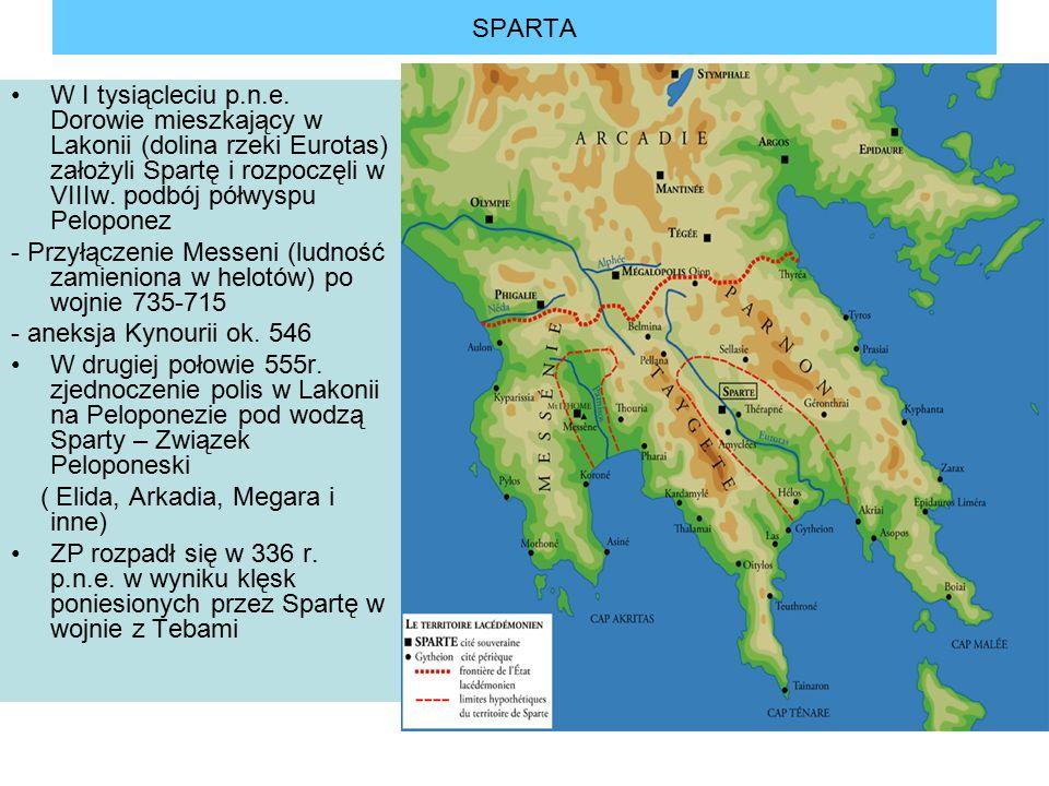 SPARTA W I tysiącleciu p.n.e.