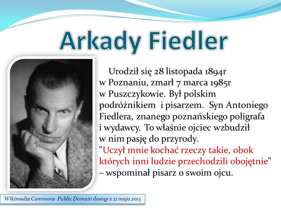 Urodził się 28 listopada 1894r w Poznaniu, zmarł 7 marca 1985r w Puszczykowie. Był polskim podróżnikiem i pisarzem. Syn Antoniego Fiedlera, znanego po
