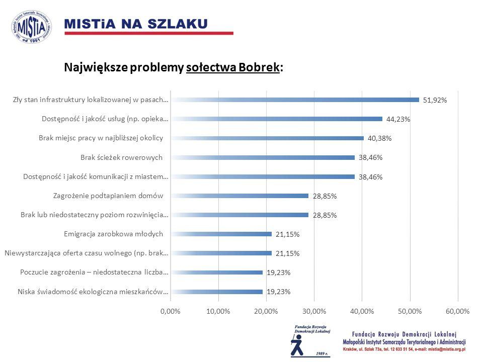 Największe problemy sołectwa Bobrek: