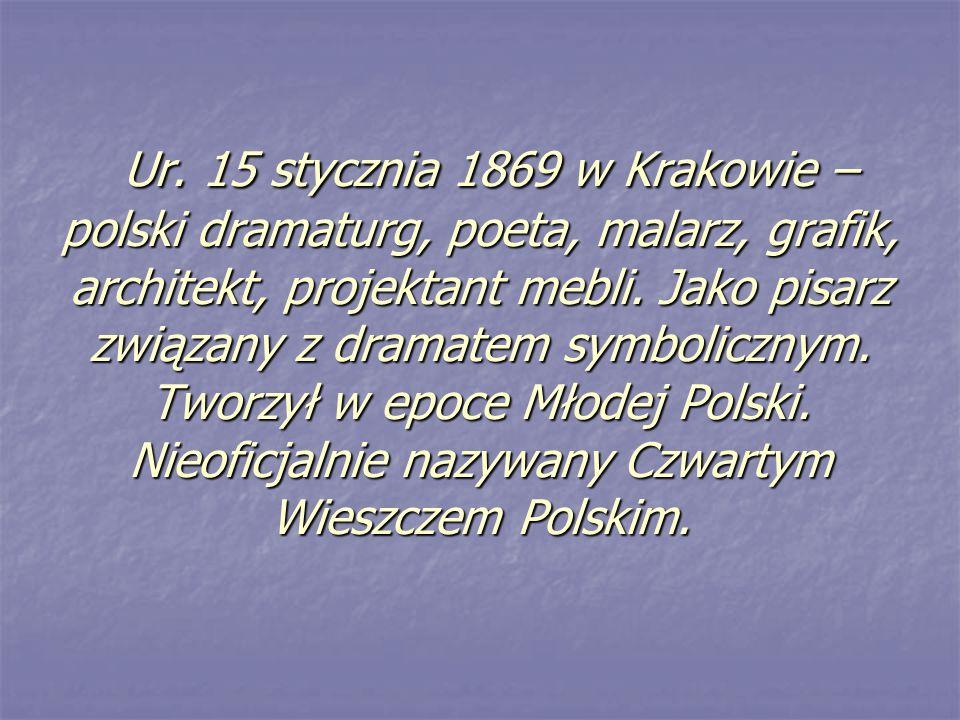 Życie Matka zmarła kiedy Stanisław Wyspiański miał siedem lat, a ponieważ ojciec nie potrafił sprawować nad nim odpowiedniej opieki, od 1880 roku wychowywał się u bezdzietnego wujostwa Kazimierza i Janiny Stankiewiczów, traktowany jak ich własne dziecko.