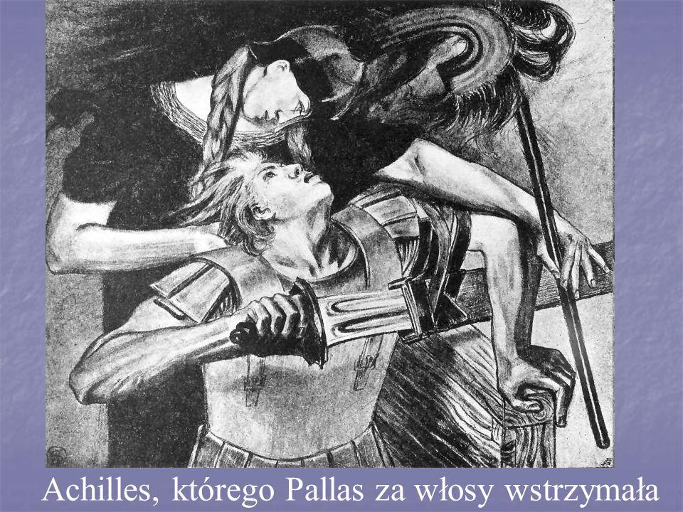 Achilles, którego Pallas za włosy wstrzymała