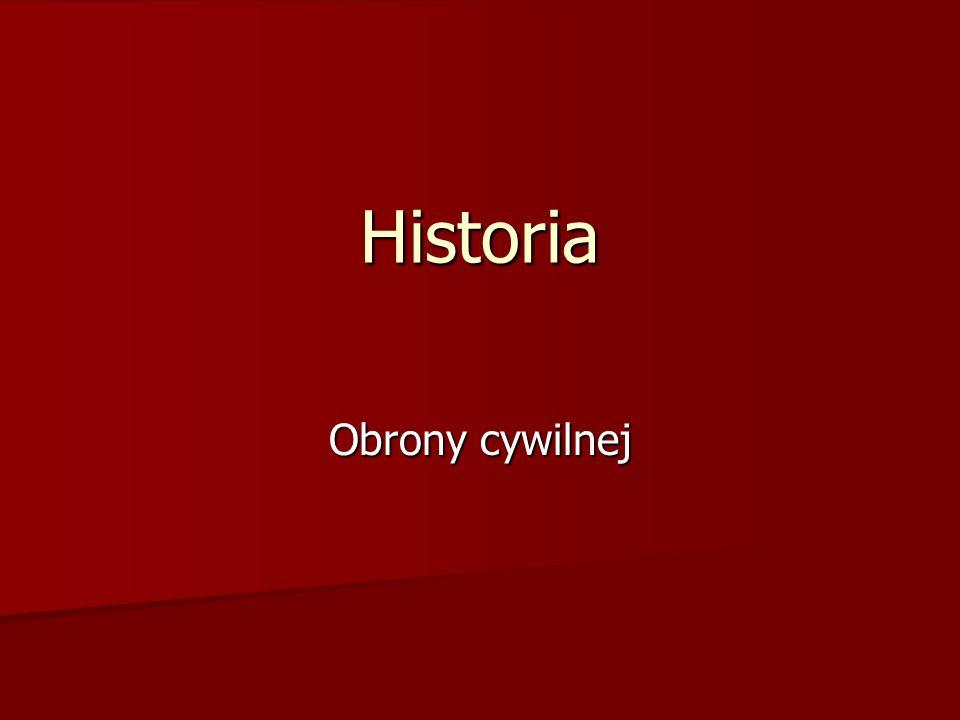 Historia Obrony cywilnej