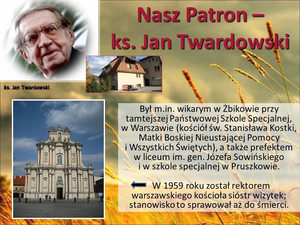 Nasz Patron – ks.Jan Twardowski Ławeczka ks.