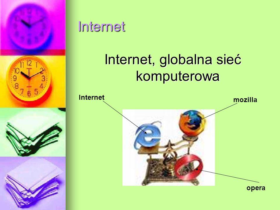 Internet Internet, globalna sieć komputerowa Internet mozilla opera