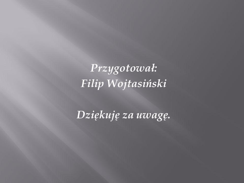 Przygotował: Filip Wojtasiński Dziękuję za uwagę.
