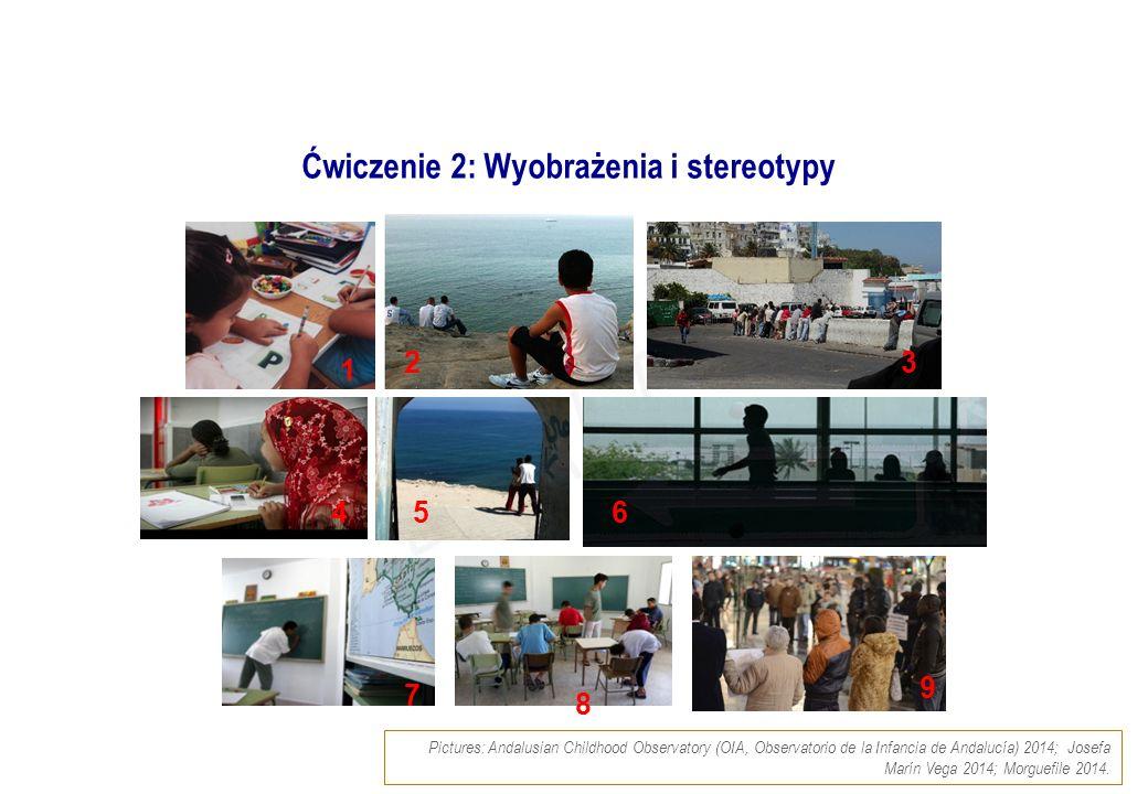 Ćwiczenie 2: Wyobrażenia i stereotypy Pictures: Andalusian Childhood Observatory (OIA, Observatorio de la Infancia de Andalucía) 2014; Josefa Marín Ve