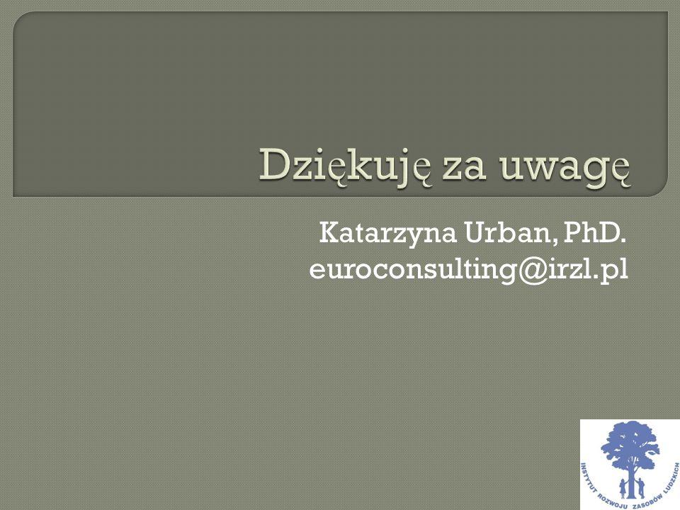 Katarzyna Urban, PhD. euroconsulting@irzl.pl