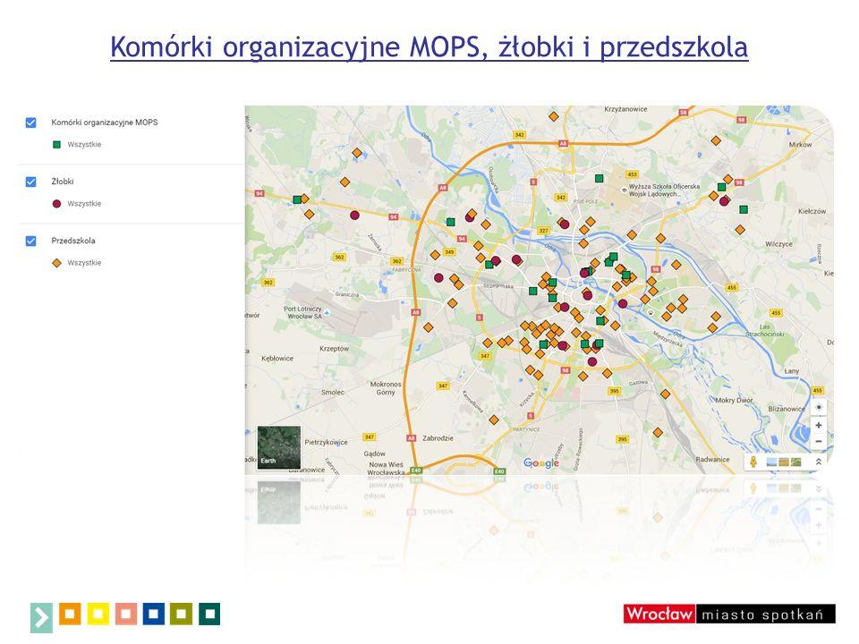 Komórki organizacyjne MOPS, żłobki i przedszkola