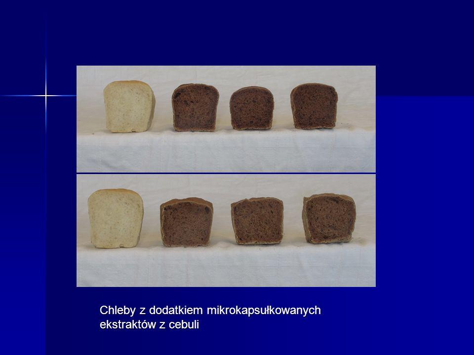 Chleby z dodatkiem mikrokapsułkowanych ekstraktów z cebuli