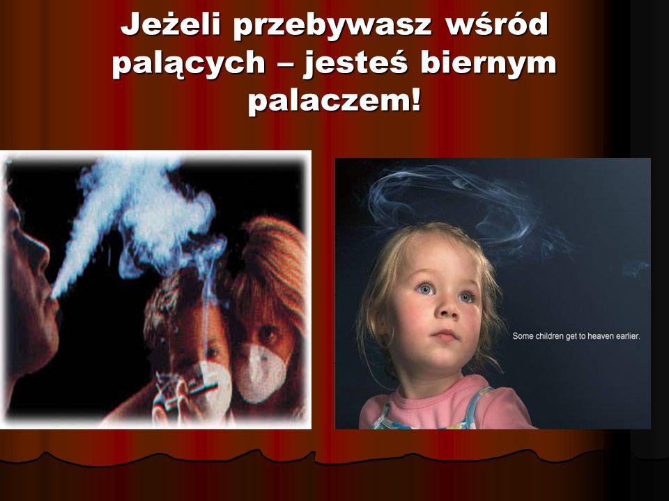 Jeżeli przebywasz wśród palących – jesteś biernym palaczem!