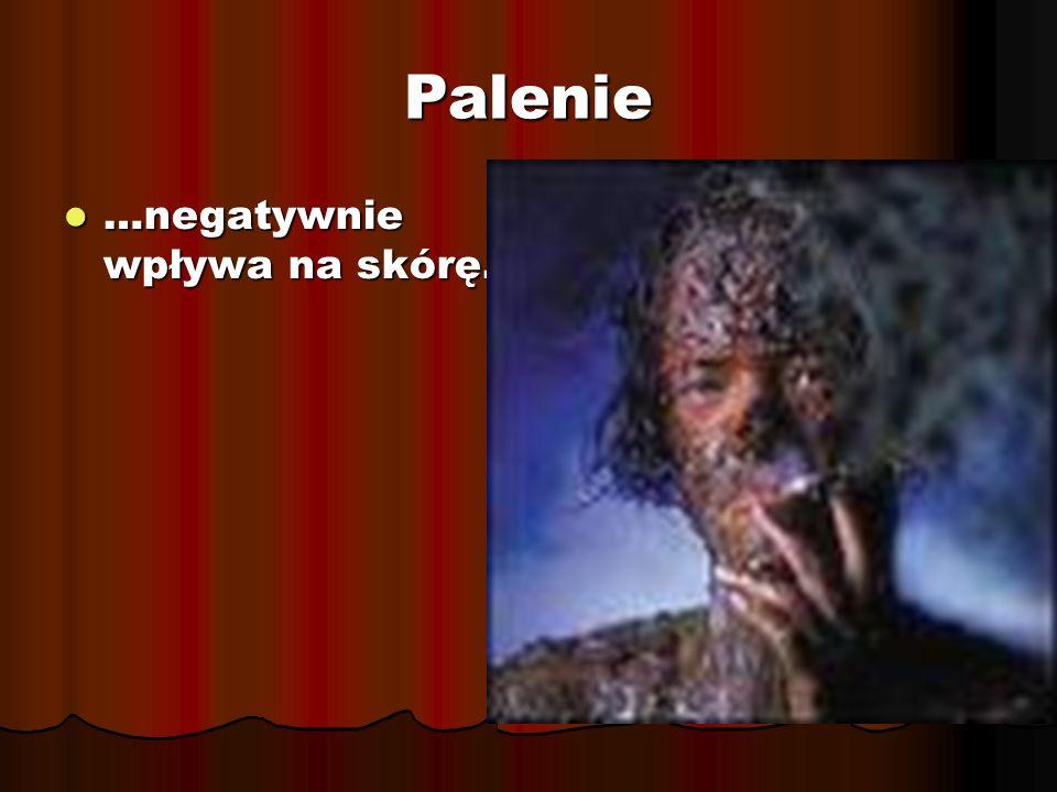 Palenie …negatywnie wpływa na skórę. …negatywnie wpływa na skórę.