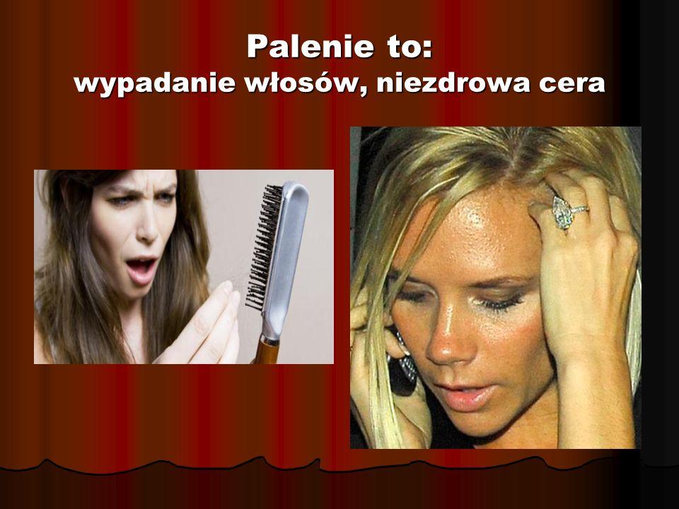 Palenie to: wypadanie włosów, niezdrowa cera