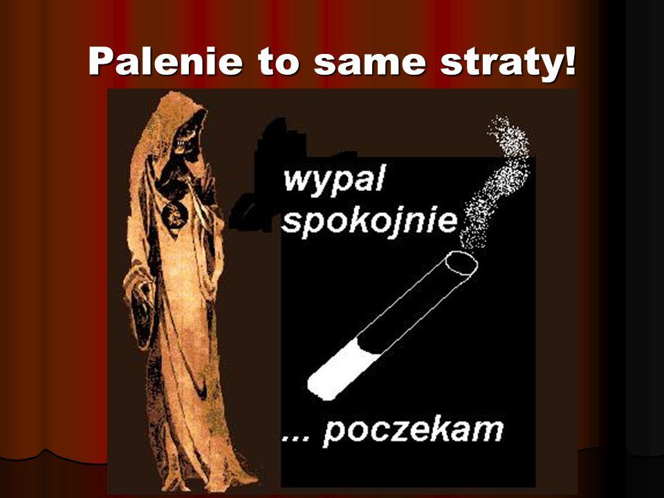 Palenie to same straty!