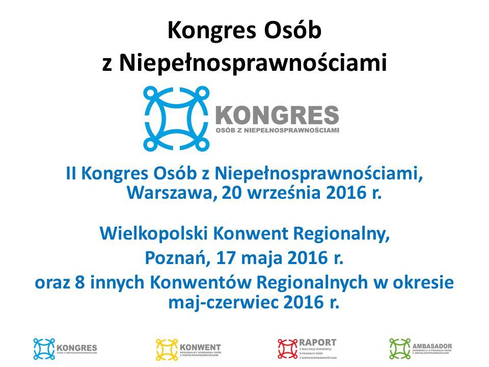 Kongres Osób z Niepełnosprawnościami II Kongres Osób z Niepełnosprawnościami, Warszawa, 20 września 2016 r.