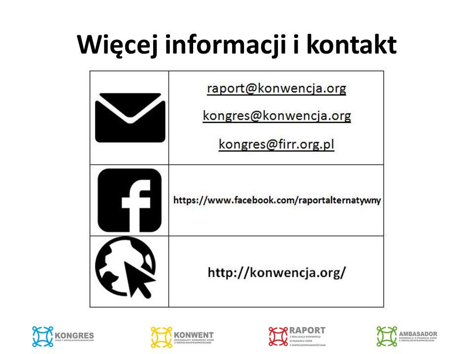 Więcej informacji i kontakt