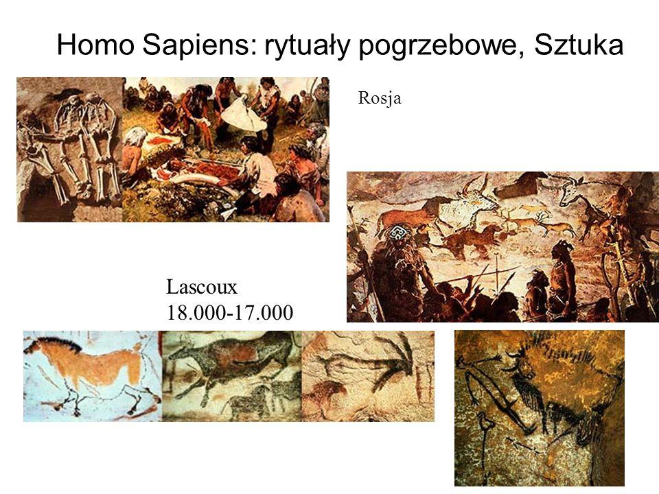 Homo Sapiens: rytuały pogrzebowe, Sztuka Rosja Lascoux 18.000-17.000
