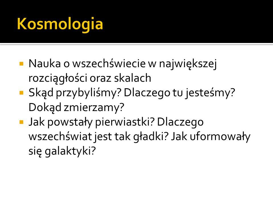  Historia (kosmologia różnych religii, filozofia)  Kosmologia współczesna wreszcie nauka ścisła!!.